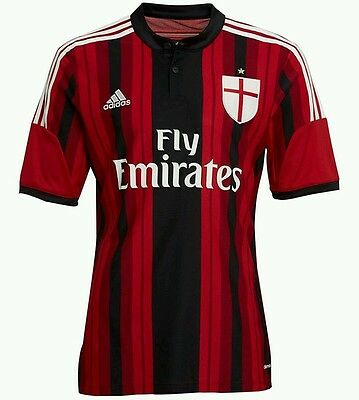 Mens AC Milan Home Shirt 2014/2015 Large New with Tags