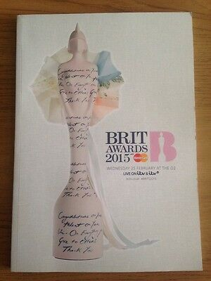 Madonna Brit Awards 2015 VIP Programme Book - Brits - Rebel Heart Tour era RARE