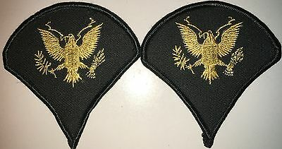 Us Army Class A E4 Specialist Spc Gold&green Patch 1 Pair New (Hg20)