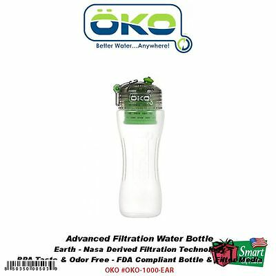 OKO H2O Advanced Filtration Water Bottle, 1000, Earth #1000-EAR