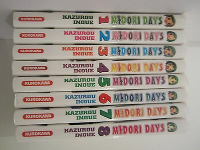 LOT 8 MANGAS Midori Days TOME N° 1 2 3 4 5 6 7 8 INTEGRALE COLLECTION COMPLETE