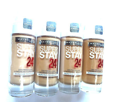 MAYBELLINE NEW FORMULA SUPER STAY 24h MICRO-FLEX FOUNDATION 30ml-VARIOUS MENU
