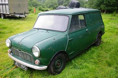 NOW SOLD Rare 1960 very early classic Mini van barn find, for restoration