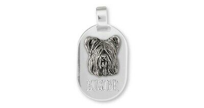 Skye Terrier Personalized Pendant Jewelry Sterling Silver Handmade Dog Personali