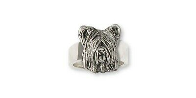 Skye Terrier Ring Jewelry Sterling Silver Handmade Dog Ring SKY4-R