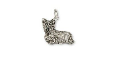Skye Terrier Charm Jewelry Sterling Silver Handmade Dog Charm SKY1-C