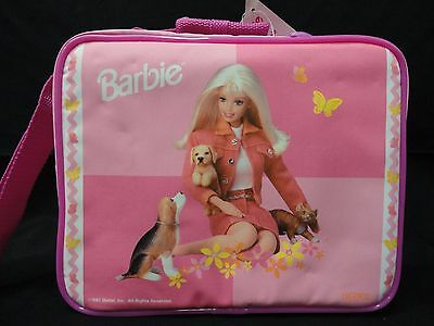 1997 Barbie Insulated Lunch Bag Thermos Pink E1