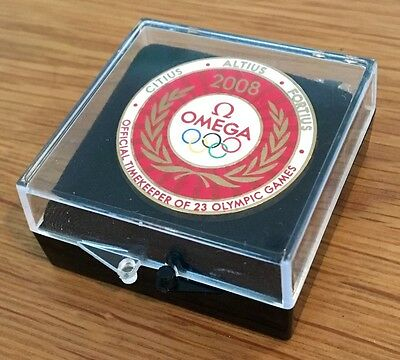 Collectable Omega Beijing 2008 Olympic Games Pin Badge
