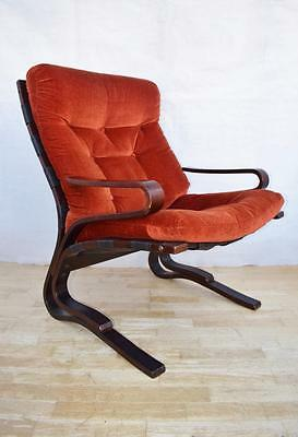 Mid Century Retro Norwegian Westnofa Lounge Easy Arm Chair 1960s