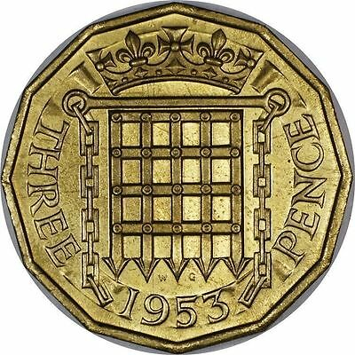 Great Britain 3 Pence 1953 Proof ~Coronation Issue~