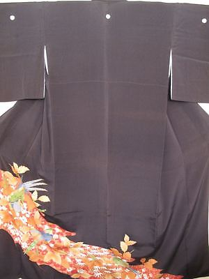 Authentic Japanese Black Kimono