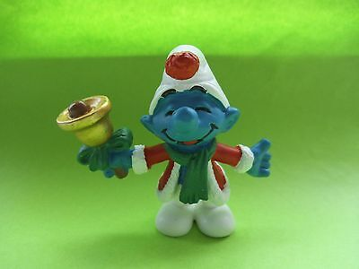 PROTOTYPE Christmas xmas Bell ringer smurf with bell  VERY RARE