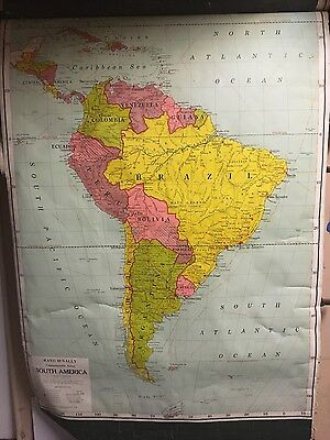 Antique Map South America - Rand McNally 1932