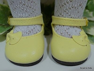 """Elegant WHITE Patent wSatin BOW Mary Jane DOLL SHOES fits 18/"""" AMERICAN GIRL DOLL"""