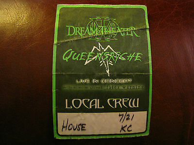 Queensryche Tour Backstage Pass!! Unpeeled!! RARE!!