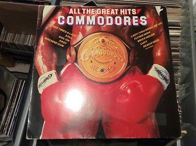 All The Great Hits Commodores LP Album Vinyl Record ZL72051 Soul Motown 80's