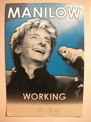 Barry ManilowTour Backstage Pass!! RARE!! Unpeeled!!