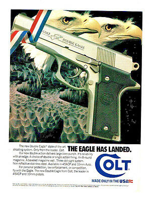 1990 Colt Double Eagle Double Action Pistol, Available In 45 Acp & 10Mm Auto  Ad