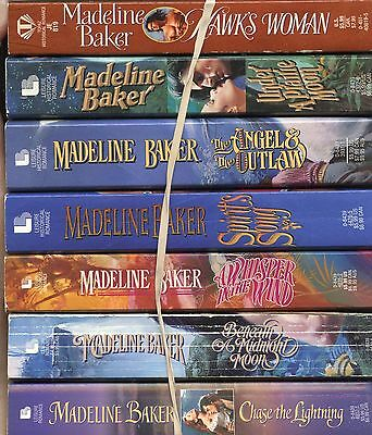 Lot Of 7 Pb~Madeline Baker~Hawk's Woman~Under A Prairie Moon~Angel & Outlaw~Chas