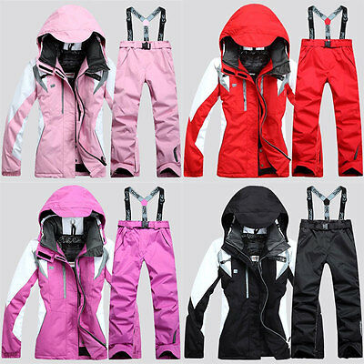 Women's Hiking Ski Snow Suit Waterproof Windproof Snowboard Clothing Coat+Pants