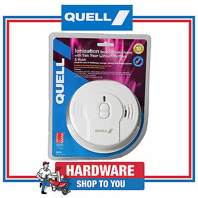 Smoke Alarm Quell Ionisation Sealed Smoke Detector 10 year Lithium Battery Q910