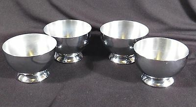 CHASE ART DECO CHROME BARWARE CORDIAL COCKTAIL GAEITY CUPS SET FOUR (4) 1930's