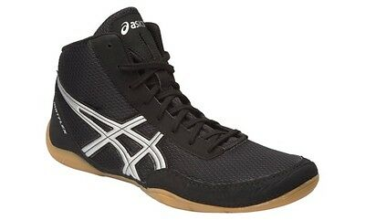 Asics Matflex 5 Boxing Wrestling Boots Shoes  - LATEST DESIGN! - Black Silver