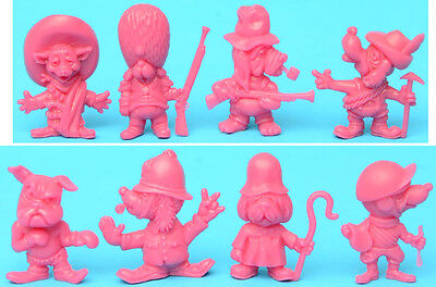 R&L CORNY CANINES / MAD DOGS / DAFFY DOGGY complete set of 8 - Australian PINK