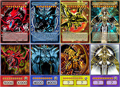 Yugioh Orica DIVINE BEAST SLIFER, OBELISK, RA, HORAKHTY Anime Art Set of 8 cards