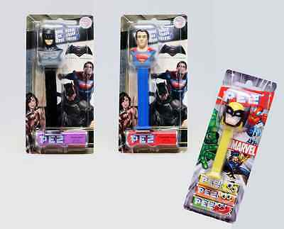BATMAN V SUPERMAN Pez Dispensers: Dawn of Justice with FREE Wolverine