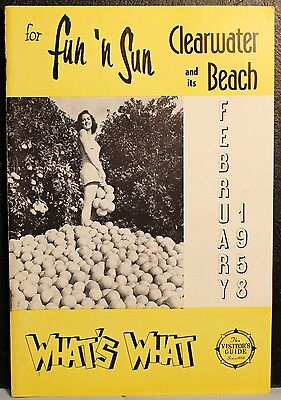 Clearwater Beach Florida February 1958 What's What Visitors Guide