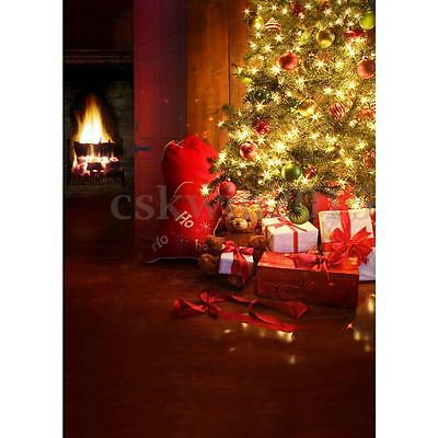 5x7FT Christmas Photography Backdrops Gifts Background Vinyl Studio Props Photo