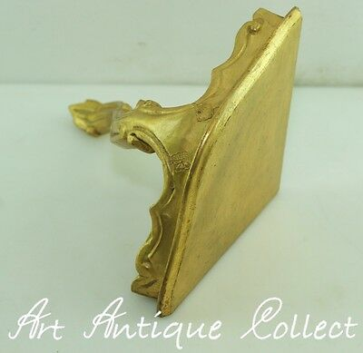 Antique Console Wall Corner Style Figures Gold Baroque Tray for Holy statue