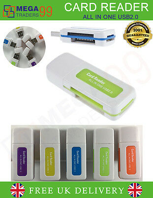 Portable 4 in 1 Memory Multi Card Reader USB 2.0 for SD/TF/M2 Card Any Color