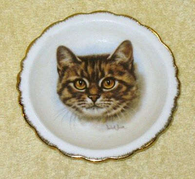 Brinton Bone China Cat Collector Mini Plate Signed By Derick Brown
