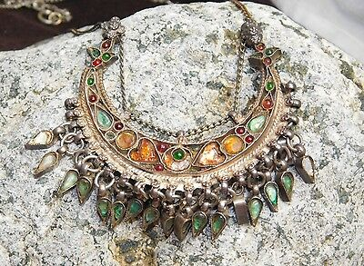 Antique Ethnic Tribal ~ Old Silver Necklace ~ Jewelry