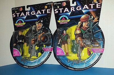 2 STARGATE ACTION FIGURES-COL O'NEIL AND SKAARA-4in-1994 HASBRO