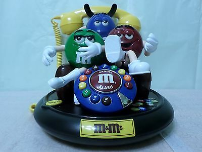 M&M's Animated Talking Telephone - Green, Blue & Red M&M
