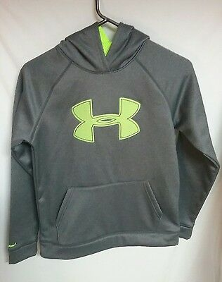 Under Armour Storm Hoodie Pullover Sweatshirt SZ YLG Gray Loose Fit Teen Youth