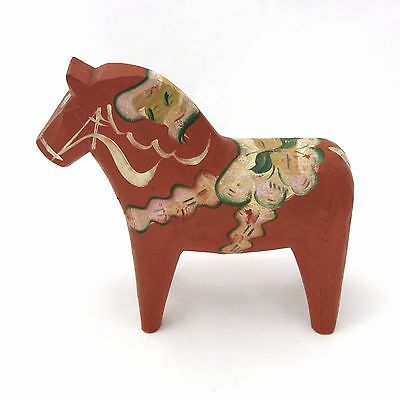 "Vintage 8"" Swedish Red Dala Horse Not Dipped"