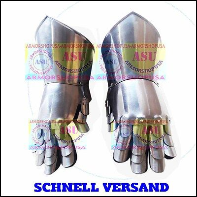 Medieval Viking Roman Norman Role-Play Iron Steel Gauntlets Gloves Hand Gloves