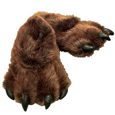 Wishpets Grizzly Bear Paw Slippers Brown S (Infant/Kids)