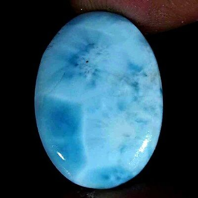 21.00Cts 100% NATURAL SKY BLUE LARIMAR OVAL CABOCHON DOMINICAN REPUBLIC GEMSTONE