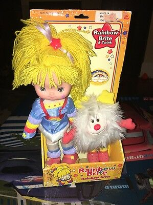 """Rainbow Brite & Twink, 10"""" Poseable Doll - 2003 Hallmark Toy Play -  New in Box"""