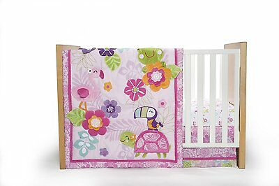 Carters 4 Piece Crib Set, Tropical Garden Discontinued by Manufacturer New
