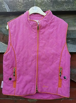 Girls JOULES Pink 'Junior Minx' Gilet/Body Warmer, 'Winter Rose', Age 10-11 Yrs