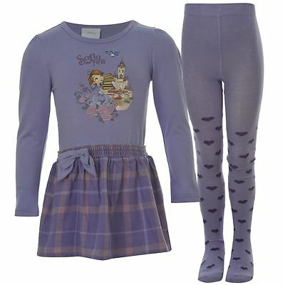 Official Licensed Disney Sophia The First Tights Set Outfit Sizes 2 To 8 Yrs