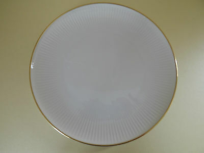 Thomas China Germany Ribbed White Dinner Plate with Gold Band (L63,5)