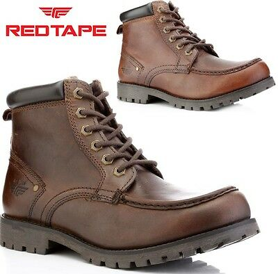 MENS Red Tape LEATHER CASUAL LACE UP MILITARY ANKLE FASHION BOOTS SHOES SZ 6-12