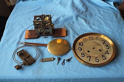Vintage Junghans Wall Clock Movement And Other Parts
